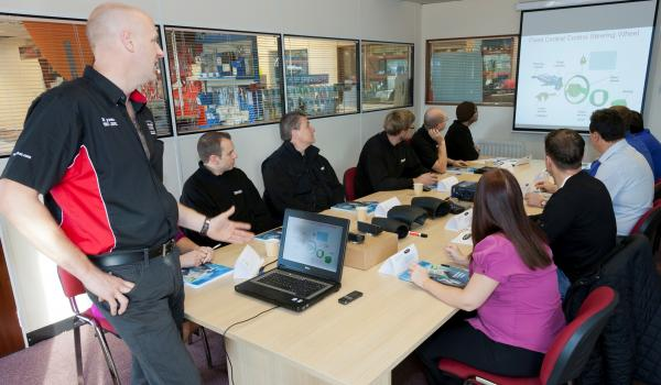 wheel alignment course, Hampshire